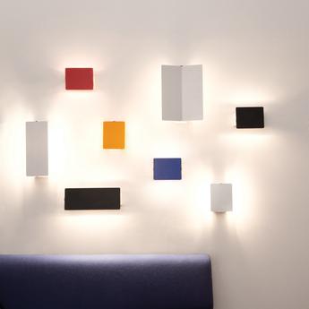 Applique murale volet pivotant plie aluminium l26cm h34cm nemo lighting normal