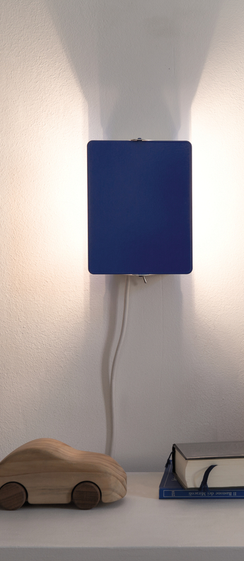 Applique murale volet pivotant simple bleu l17cm h13cm nemo lighting normal