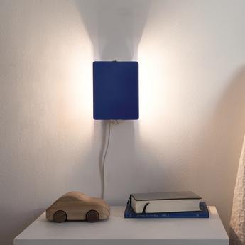 Applique murale volet pivotant simple bleu l17cm h13cm nemo lighting normal