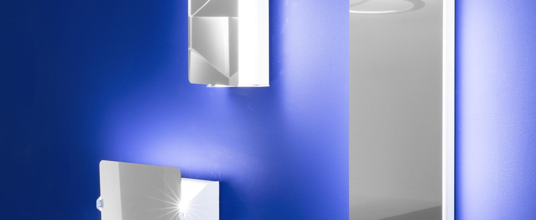 Applique murale volet pivotant simple inox led 3000k 1000lm l17cm h13cm nemo lighting normal