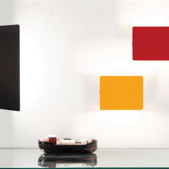 Applique murale volet pivotant simple jaune l17cm h13cm nemo lighting normal