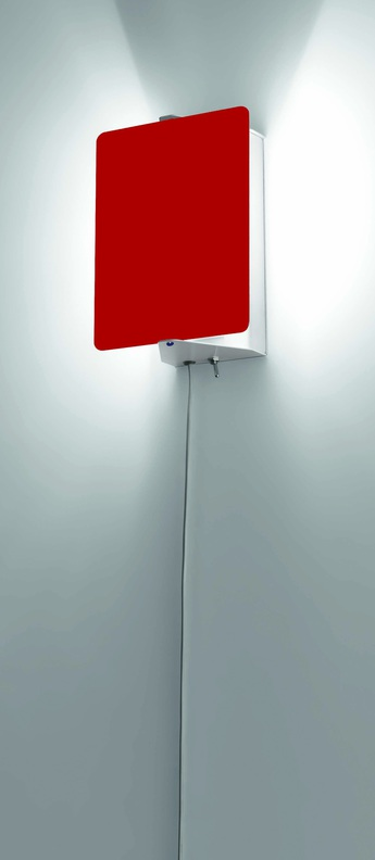 Applique murale volet pivotant simple rouge l17cm h13cm nemo lighting normal