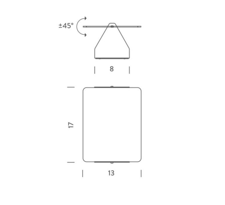 Volet pivotant simple charlotte perriand applique murale wall light  nemo lighting avp lwr 31  design signed 57706 product