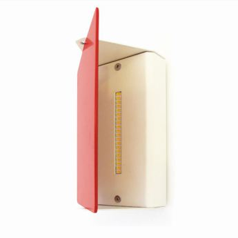Applique murale volet pivotant simple rouge led 3000k 1000lm l17cm h13cm nemo lighting normal