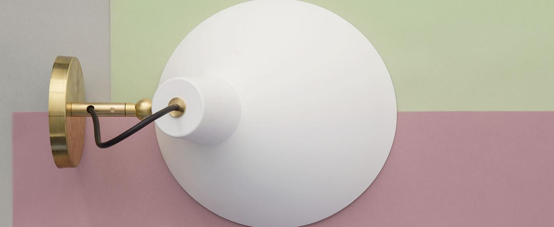Applique murale vv cinquanta blanc et laiton o27 4cm h18 3cm astep normal