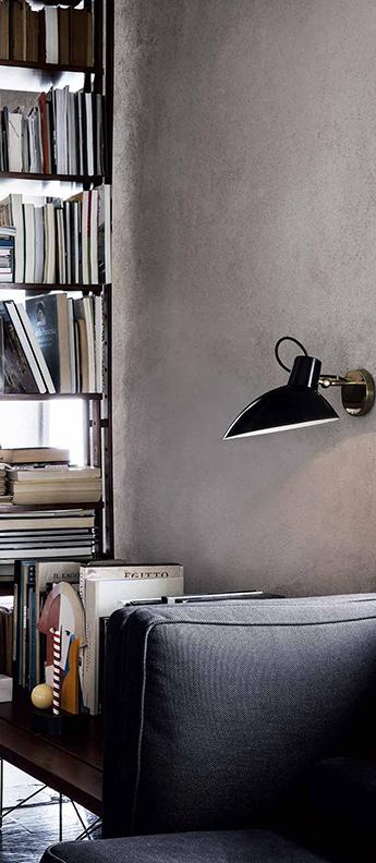 Applique murale vv cinquanta noir et laiton o27 4cm h18 3cm astep normal