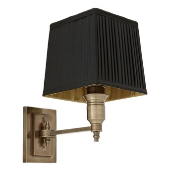 Applique murale wall lamp lexington single noir laiton l14cm h27cm eichholtz normal