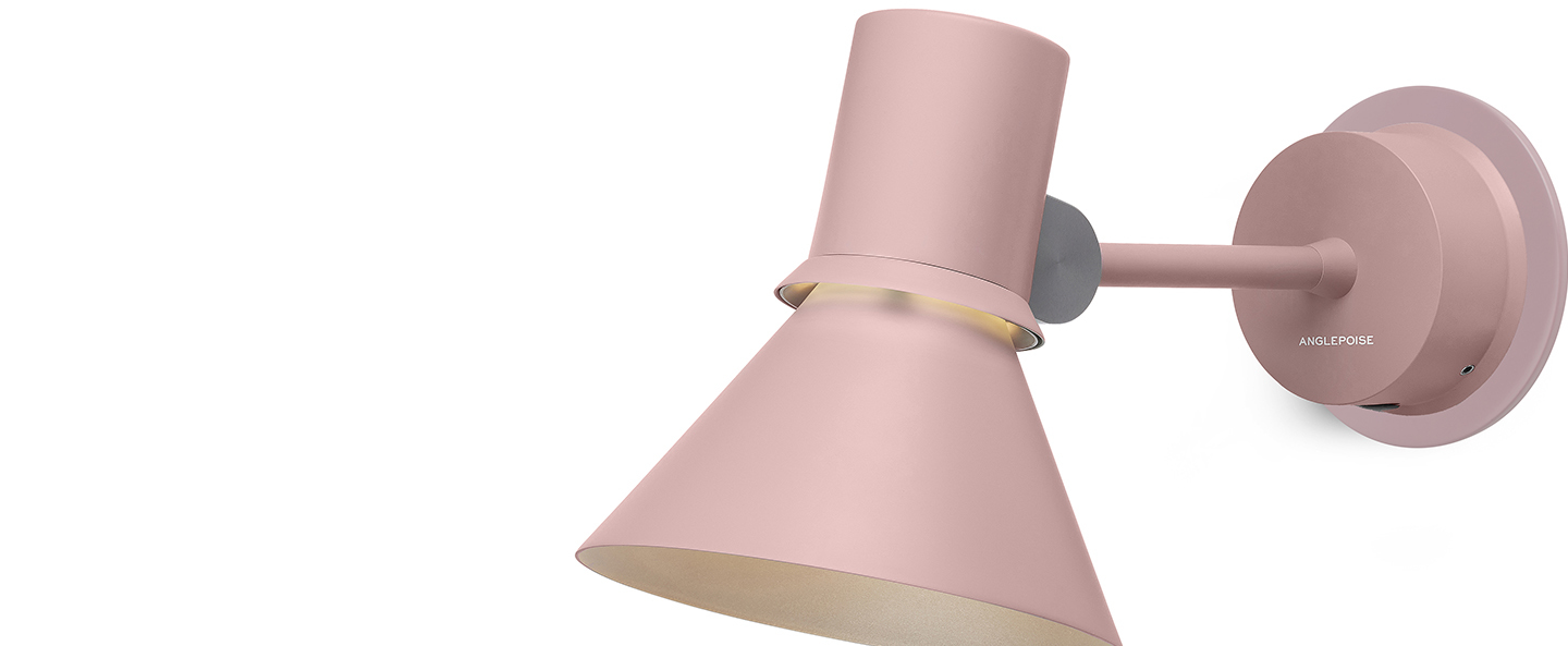 Applique murale wall light type 80 rose pink l26 5cm h14 5cm anglepoise normal
