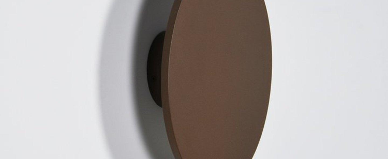 Applique murale zenith rouille led 3000k 1050lm l30cm h30cm eno studio normal