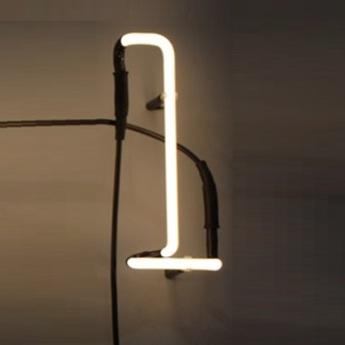 Applique neon art l blanc brillant l30cm h18cm seletti normal