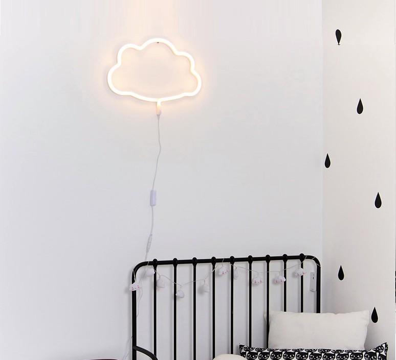Neon style light cloud judith de ruijter et nikki hateley a little lovely company neoncloudyellow luminaire lighting design signed 32288 product