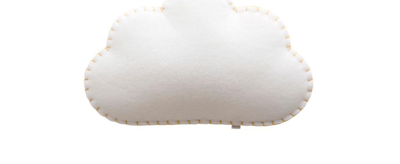 Applique nuage soft light blanc jaune led sortie direct l53cm h34cm buokids normal