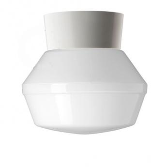Applique ou plafonnier abat jour en verre 037 blanc o14 5cm h17cm zangra normal