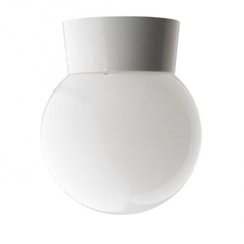 Applique ou plafonnier abat jour en verre blanc o14 5cm h17 5cm zangra normal