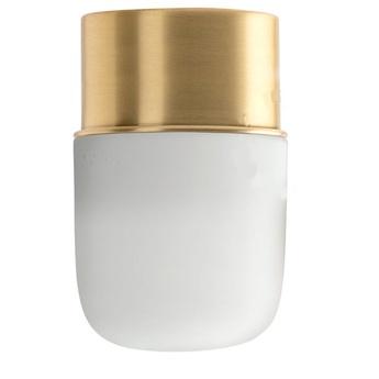 Applique ou plafonnier adore l or 001 bis laiton verre mat o8 5cm h13 5cm zangra normal