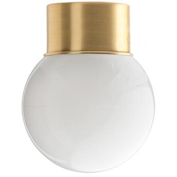 Applique ou plafonnier adore l or 003 laiton verre opalin o12 5cm h16cm zangra normal