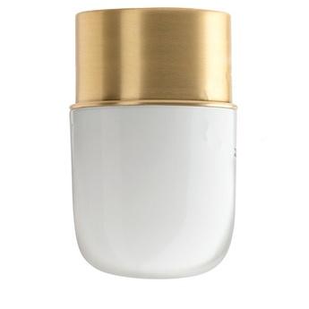 Applique ou plafonnier adore l or 010 bis laiton verre opalin o8 5cm h14 5cm zangra normal