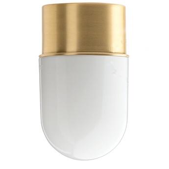 Applique ou plafonnier adore l or 010 laiton verre opalin o8 5cm h14 5cm zangra normal