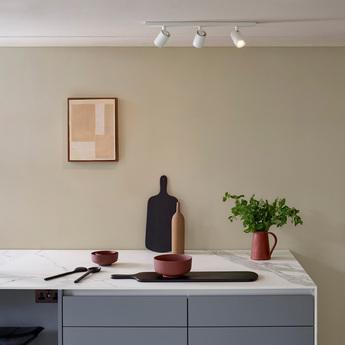 Applique ou plafonnier ascoli triple blanc l60cm h13cm astro normal