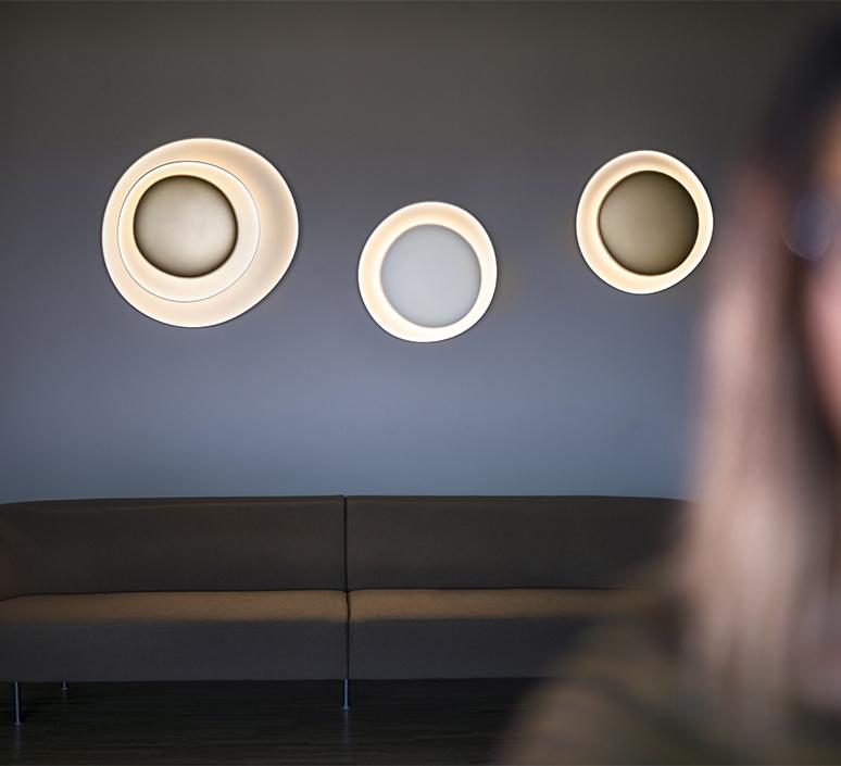 Bahia mini led studio lucidi pevere applique ou plafonnier wall or ceiling light  foscarini 1960052l 71  design signed nedgis 118677 product