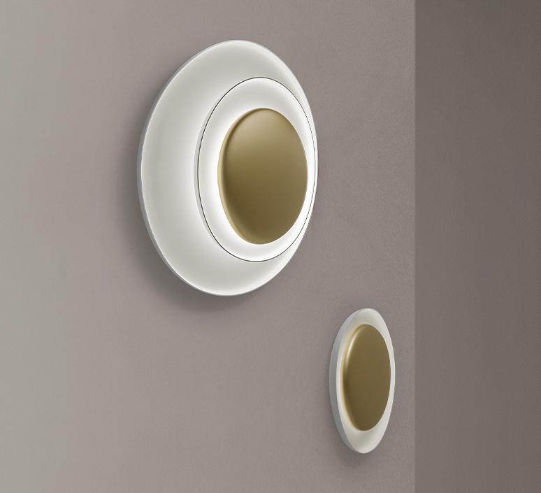Bahia mini led studio lucidi pevere applique ou plafonnier wall or ceiling light  foscarini 1960052l 71  design signed nedgis 118679 product
