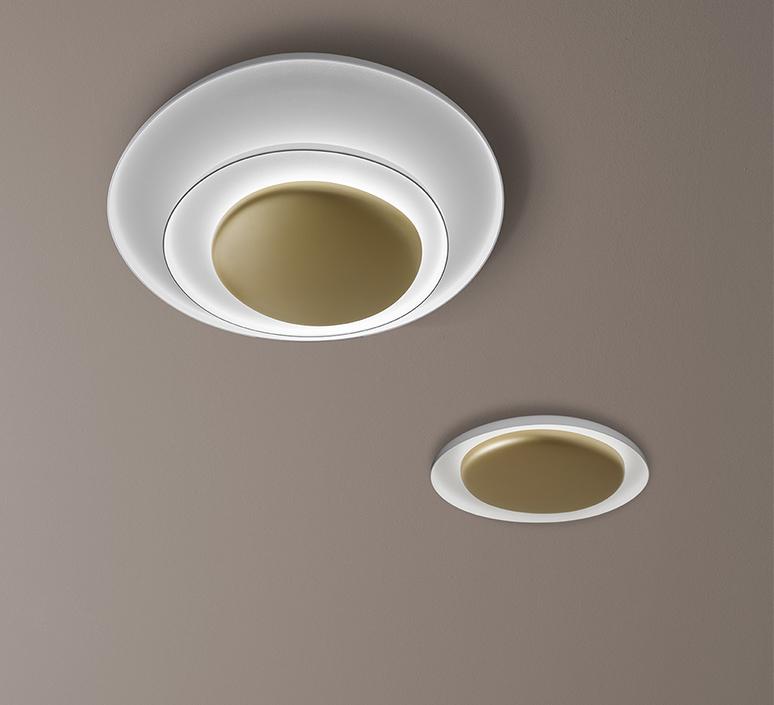 Bahia mini led studio lucidi pevere applique ou plafonnier wall or ceiling light  foscarini 1960052l 71  design signed nedgis 118680 product