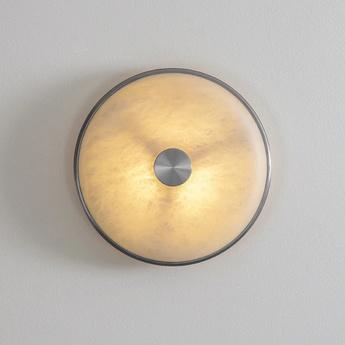 Applique ou plafonnier beran albatre nickel ip65 led 2700k lm l36cm h36cm bert frank normal