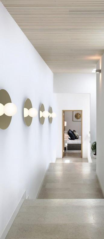 Applique ou plafonnier bola disc flush 32 laiton verre opalin led 2700k 1550lm o81cm h20 2cm pablo normal