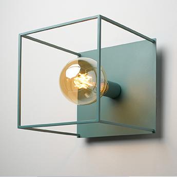Applique ou plafonnier box grande vert arctic o26cm h28cm zava normal