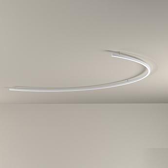 Applique ou plafonnier brooklyn blanc ip40 led 3000k 2965lm l195cm h5 8cm panzeri normal