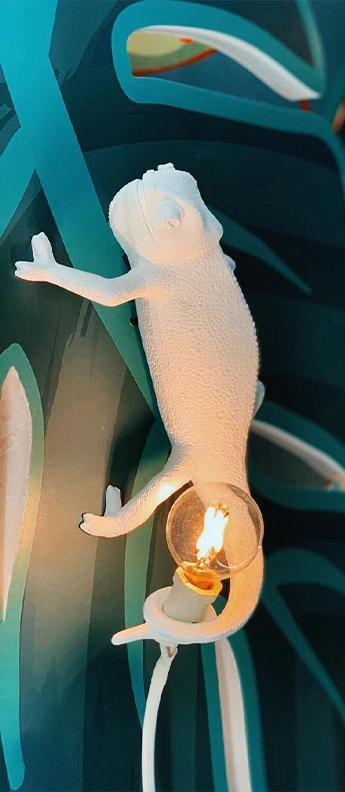 Applique ou plafonnier chameleon lamp going up blanc l21cm h9cm seletti normal