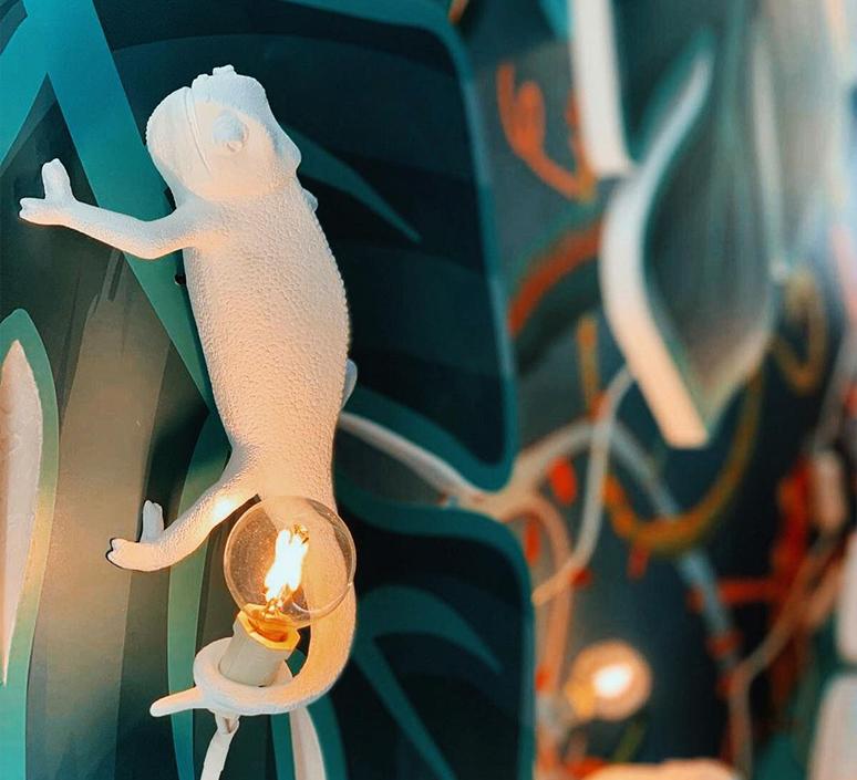 Chameleon lamp going up marcantonio raimondi malerba applique ou plafonnier wall or ceiling light  seletti 14662  design signed nedgis 97738 product