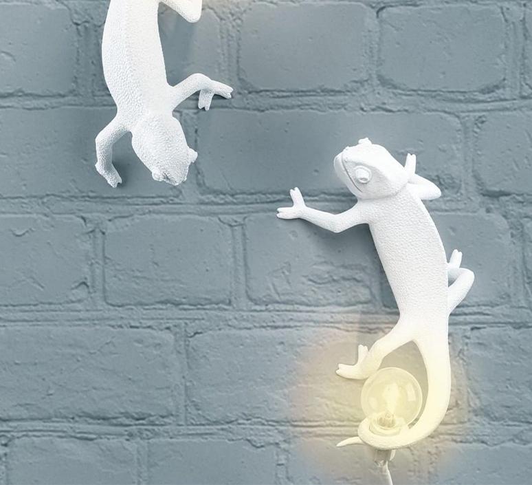 Chameleon lamp going up marcantonio raimondi malerba applique ou plafonnier wall or ceiling light  seletti 14662  design signed nedgis 97740 product