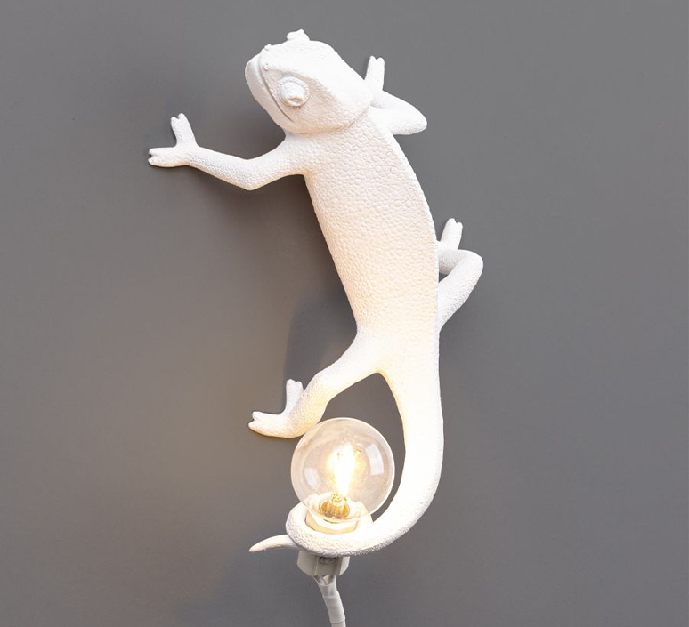 Chameleon lamp going up marcantonio raimondi malerba applique ou plafonnier wall or ceiling light  seletti 14662  design signed nedgis 97742 product