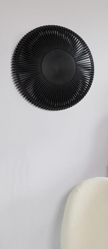 Applique ou plafonnier clava up chene noir o49cm h16cm umage normal