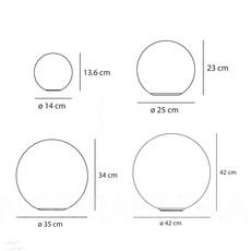 Applique ou plafonnier dioscori blanc o42cm artemide 35597 thumb