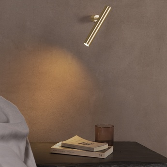 Applique ou plafonnier ego laiton led 3000k 1220lm o3cm h23 9cm axo light normal