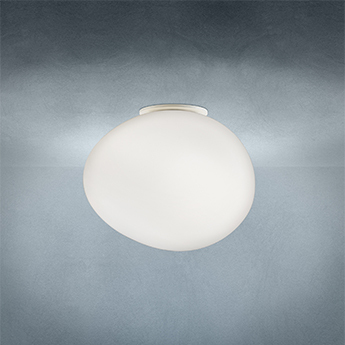 Applique ou plafonnier gregg media blanc et blanc l31cm h27cm foscarini normal