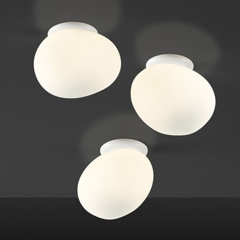 Applique ou plafonnier gregg piccola blanc l11cm h13cm foscarini normal