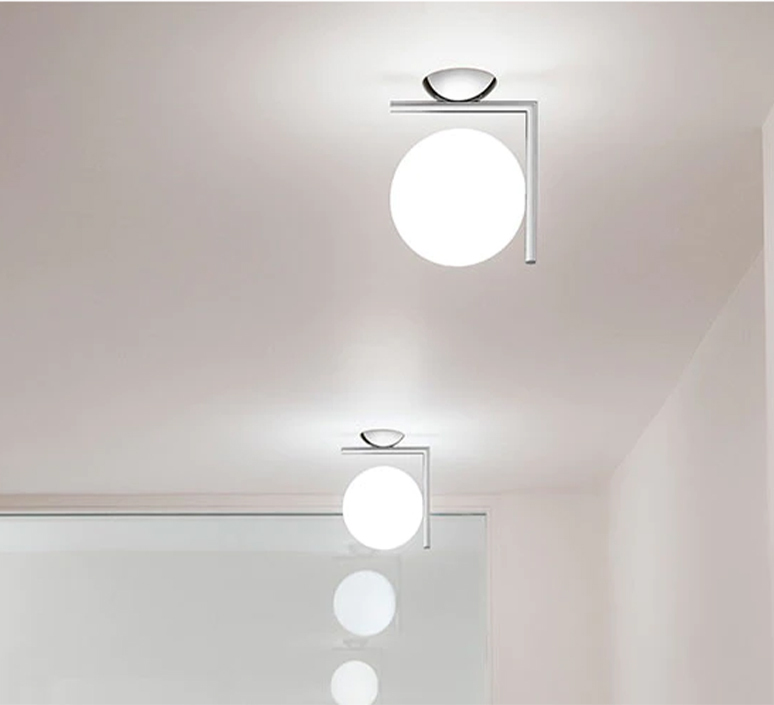 Ic lights c w1 double michael anastassiades applique ou plafonnier wall or ceiling light  flos f3178057  design signed nedgis 97623 product