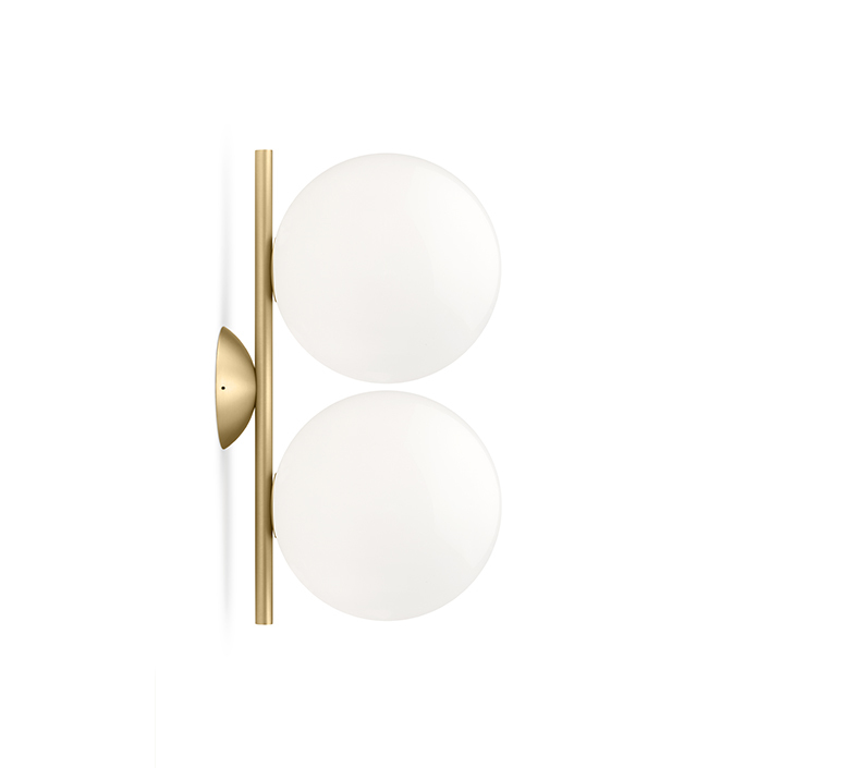 Ic lights c w1 double michael anastassiades applique ou plafonnier wall or ceiling light  flos f3157059  design signed nedgis 97619 product