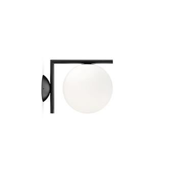 Applique ou plafonnier ic lights c w1 double opalin et noir l21 6cm h20cm flos normal