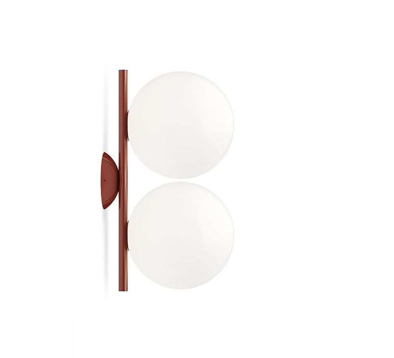 Ic lights c w1 double michael anastassiades applique ou plafonnier wall or ceiling light  flos f3157035  design signed nedgis 97622 product