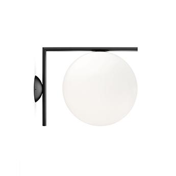 Applique ou plafonnier ic lights c w2 opalin et noir l31 6cm h30cm flos normal