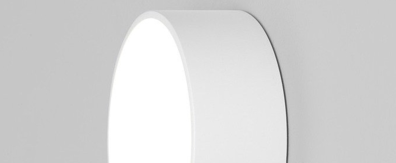 Applique ou plafonnier kea 150 round blanc ip65 led 3000k 566lm l15cm h15cm astro normal