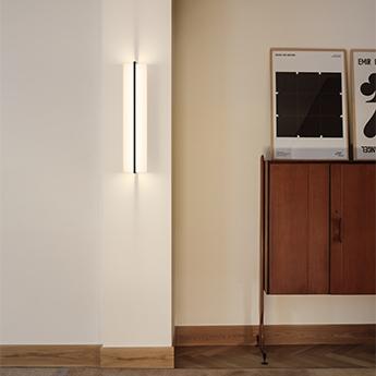 Applique ou plafonnier kontur 6414 blanc et noir led 2700k 2165lm l20cm h92cm vibia normal