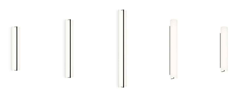 Applique ou plafonnier kontur 6416 blanc et noir led 2700k 2907lm l20cm h122cm vibia normal