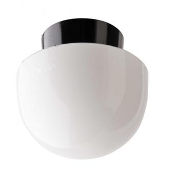 Applique ou plafonnier lampe avec abat jour en verre blanc noir o16 5cm h15cm zangra normal