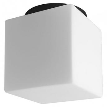 Applique ou plafonnier lampe en verre souffle noir et blanc ip40 o18 4cm h20cm zangra normal