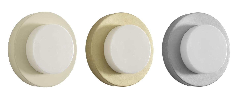 Applique ou plafonnier lia wall argent et blanc ip44 o30cm h9 5cm eno studio normal